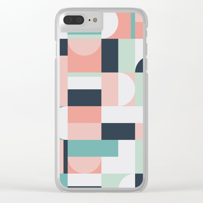 Abstract Geometric 08 Clear iPhone Case