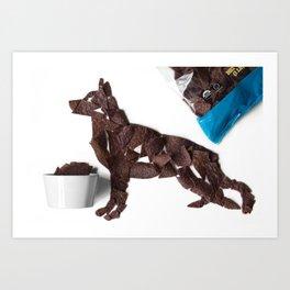 Dog Tortilla chips Art Print