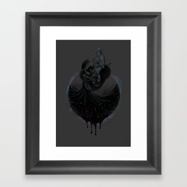 Paint the Black Hole Blacker Framed Art Print