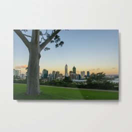 Kings Park, Perth Skyline, Western Australia Metal Print