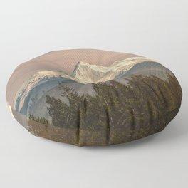 Mount Hood Vintage Sunset - Nature Landscape Photography Floor Pillow
