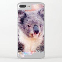 Watercolor Koala Clear iPhone Case