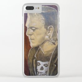 Frankie the Misfit Clear iPhone Case