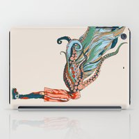 octopus iPad Cases featuring Octopus in me by Huebucket