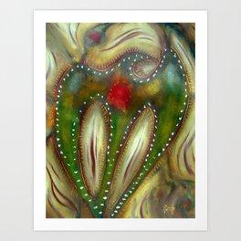 Green Raven Art Print