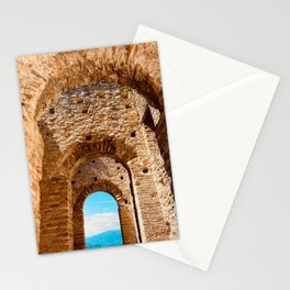 Roman villa, ancient Rome, Sirmione, lake Garda, Grottoes of Catullus Stationery Cards