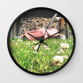 Country Wood Shed Wall Clock