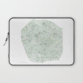 Milan Italy watercolor map Laptop Sleeve