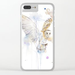 "Watercolor Painting of Picture ""White Owl"" Clear iPhone Case"