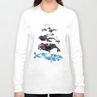 whales Long Sleeve T-shirts featuring Whales by Amee Cherie Piek