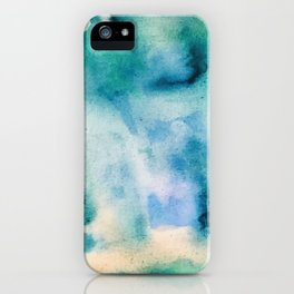 Watercolor abstract many color no.16 iPhone Case