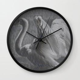 Swan I Wall Clock
