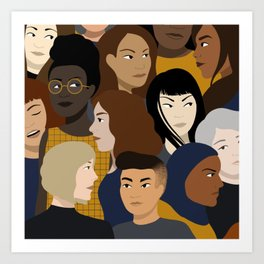 Women, Together Art Print