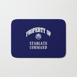 Property of Stargate Command Athletic Wear White ink Bath Mat