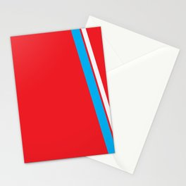 Red Slant Stationery Cards