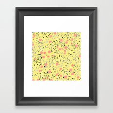 Peach Mania Framed Art Print