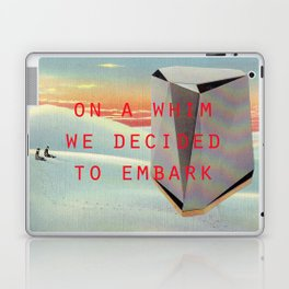 On a whim we decided to embark (Coburg Faceted Table and Sunset) Laptop & iPad Skin