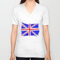 flag V-neck T-shirts featuring Flag by Svetlana Sewell