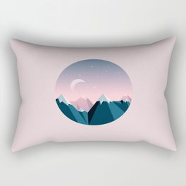 Mountain Peaks Rectangular Pillow
