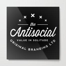 the antisocial Metal Print