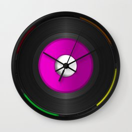 45 RPM Records Wall Clock