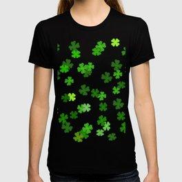 Shamrocks Falling - Pattern for Saint Patricks Day T-shirt