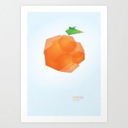 ORANGE DUST Art Print