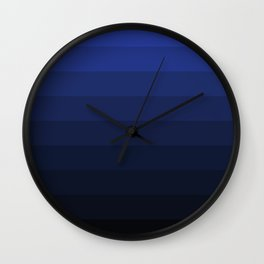 Black and blue striped Ombre Wall Clock