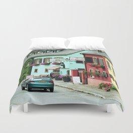 Pastel Town : Alsace Duvet Cover