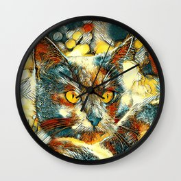 AnimalArt_Cat_20170916_by_JAMColorsSpecial Wall Clock