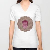 tyler durden V-neck T-shirts featuring Tyler Durden - FightClub by Kuki