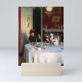 "John Singer Sargent ""The Breakfast Table"" Mini Art Print"