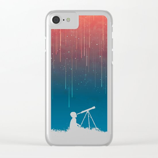 Meteor Rain (light version) Clear iPhone Case