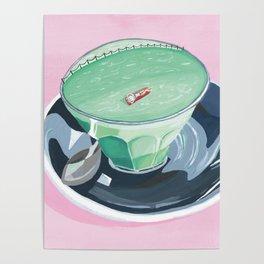 Matcha latte swim Poster