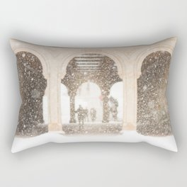 Central Park Snow Rectangular Pillow