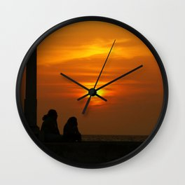 Romancing the Sunset Wall Clock