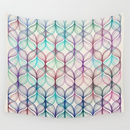 Mermaid's Braids - a colored pencil pattern Wall Tapestry