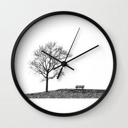 Bench Beneath Tree Wall Clock