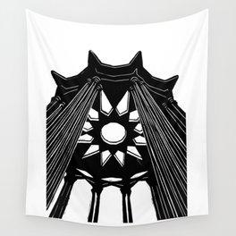 Black rotunda Wall Tapestry