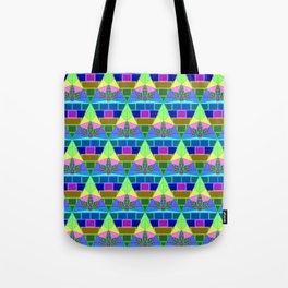 Inverted Lit Rainbow Tote Bag
