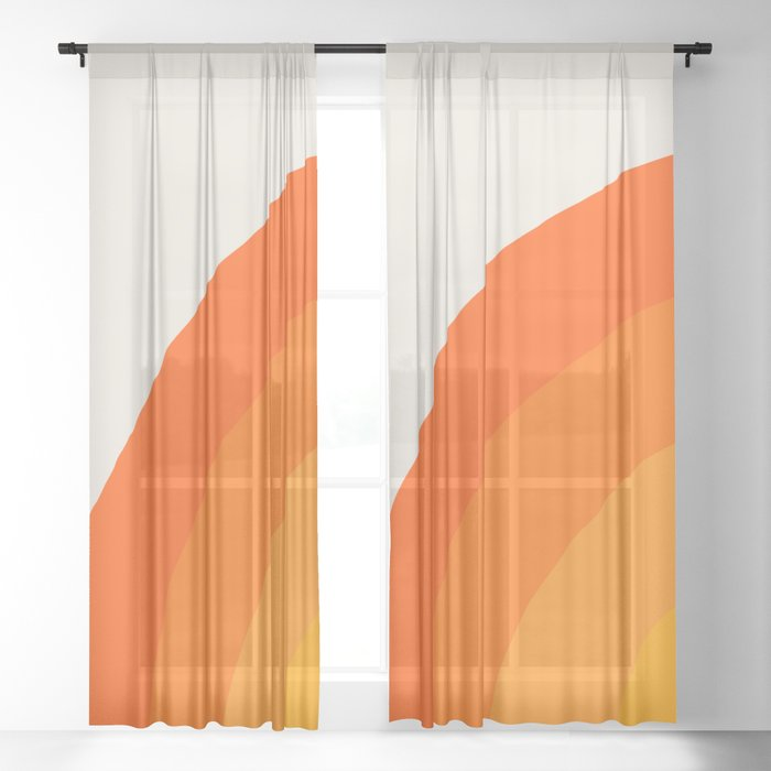 Sunrise Rainbow - Left Side Sheer Curtain