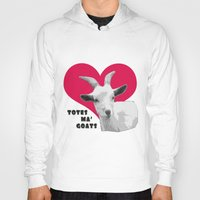 totes Hoodies featuring Totes Ma Goats - Red by BACK to THE ROOTS