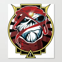 iron maiden Canvas Prints featuring Tribute Iron Maiden by JHC Studio