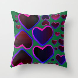 Heart in the countryside Throw Pillow