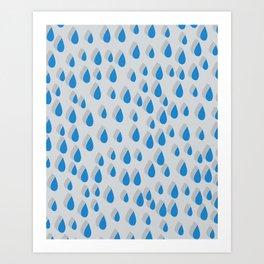 3D Water Drops Art Print
