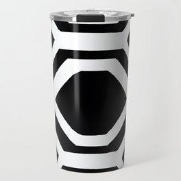 Black and White Geometric Travel Mug