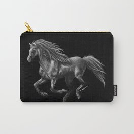 Galloping Ghost Silver Horse Carry-All Pouch