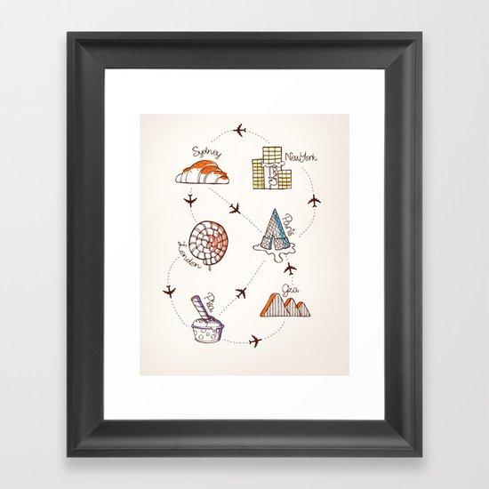 Sweet Travel Framed Art Print