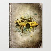 ferrari Canvas Prints featuring Ferrari by Svetlana Sewell