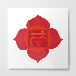 Muladhara Root Red Chakra Metal Print